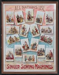 Poster - Ad for SINGER SEWING MACHINES  - 1894