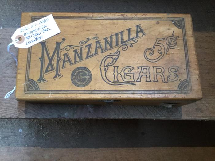 WOODEN CIGAR BOX - Manzinilla 5 cent cigars