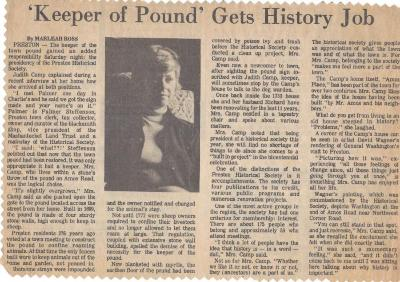 Keeper of the Pound Gets History Job