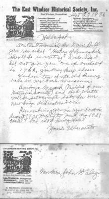 Letter from Ellsworth Stoughton to John Daley.