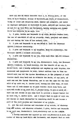 Last Will and Testament of B. Wilson Lord (copy)