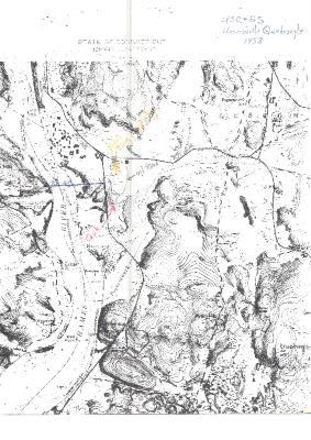 USC & GS Uncasville Quadrangle physical map 1958