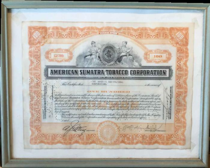 Two Stock Certificates,