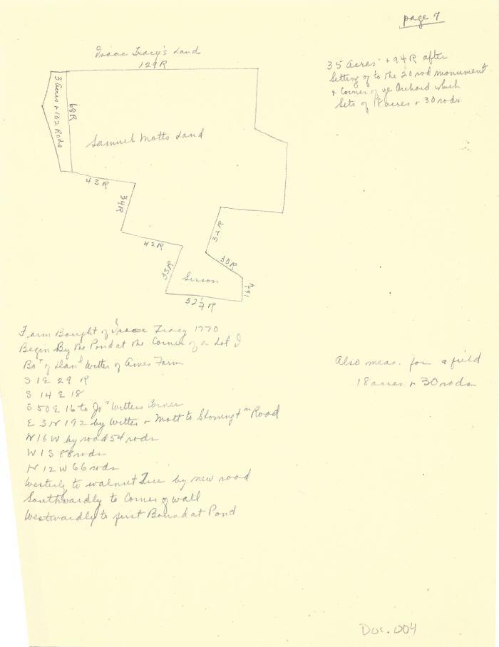 Land drawings and descriptions - Samuel Mott
