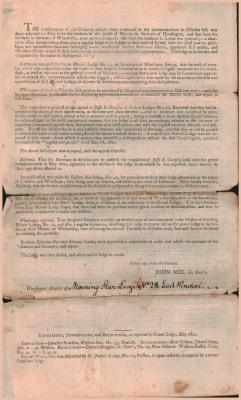 Grand Masonic Lodge of Connecticut Proceedings May 14 1800