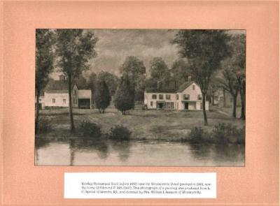 Photograph of Painting Rowley Homestead near Windsorville Pond