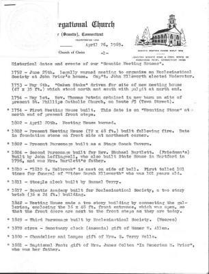 4 documents regarding history of the Scantic Church