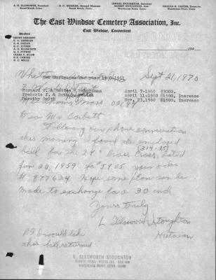 L. Ellsworth Stoughton correspondence to and from Whittemore Associates, Inc.
