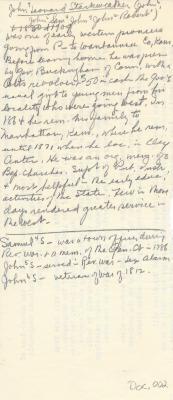 Notes on John Leonard Starkweather