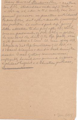 Notes on Henry Howard Starkweather (2)