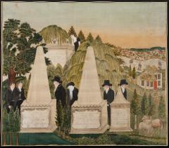 Painted Silk Mourning Picture