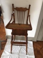 High Chair used by Donald Watson Osborn, Jibnette Wolcott Osborn (related to the Gov. Wolcott), Henry Gerden Osborn; Eva Louise Osborn.