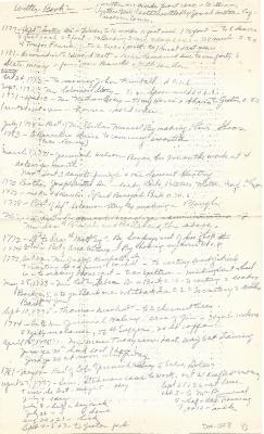 Notes from William Witter's Account Book 2
