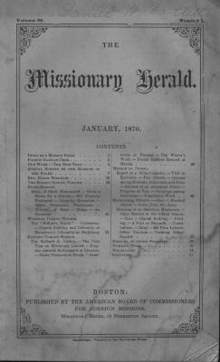 The Missionary Harald, January 1870