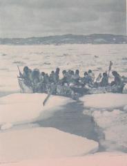 Eskimo Omiak in the Spring