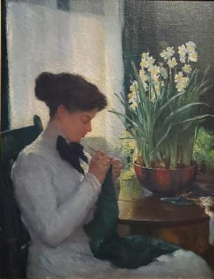 Lady with Narcissus