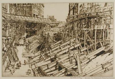 Street Excavation, Cleveland