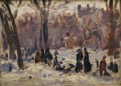 Study, Winter in the Park
