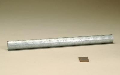 Zinc rod as cast