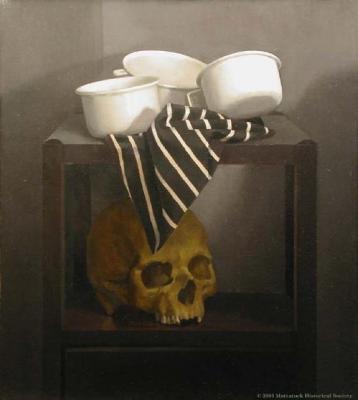 Vanitas with Three White Cups;Vanitas with Three White Cups
