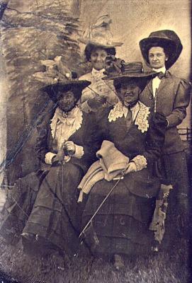 Portrait of Four Unknown Women