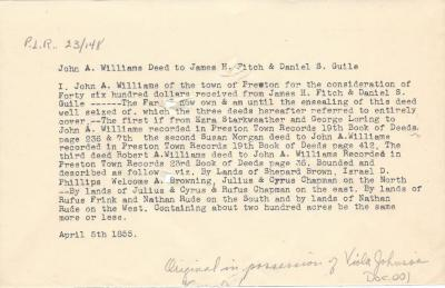 John A. Williams Deed to James H. Fitch & Daniel S. Guile