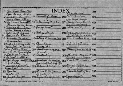 Index of 78 Rpm Records