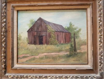 Tobacco Barn Photo painted by Lois Mulnite