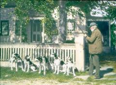 Zalmon Bradley With Dogs
