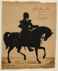 Ink Silhouette Portrait of Abraham Gould
