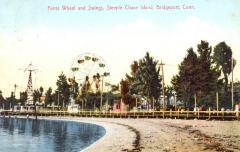 Ferris Wheel and Swings, Steeplechase Island, Bridgeport, Conn.