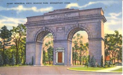Perry Memorial Arch, Seaside Park. Bridgeport, Conn.