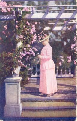 Annie B. Jennings with Roses