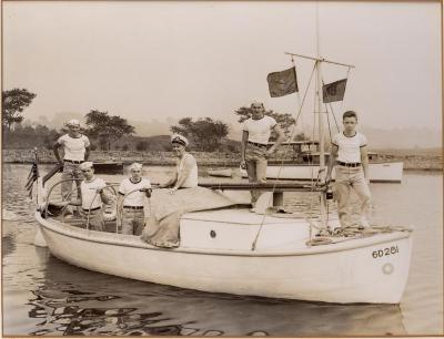 Photograph of Sea Scout Group in Southport Harbor