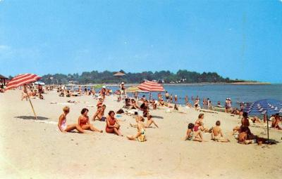 Bathing  scene at Jennings Beach,  Fairfield.
