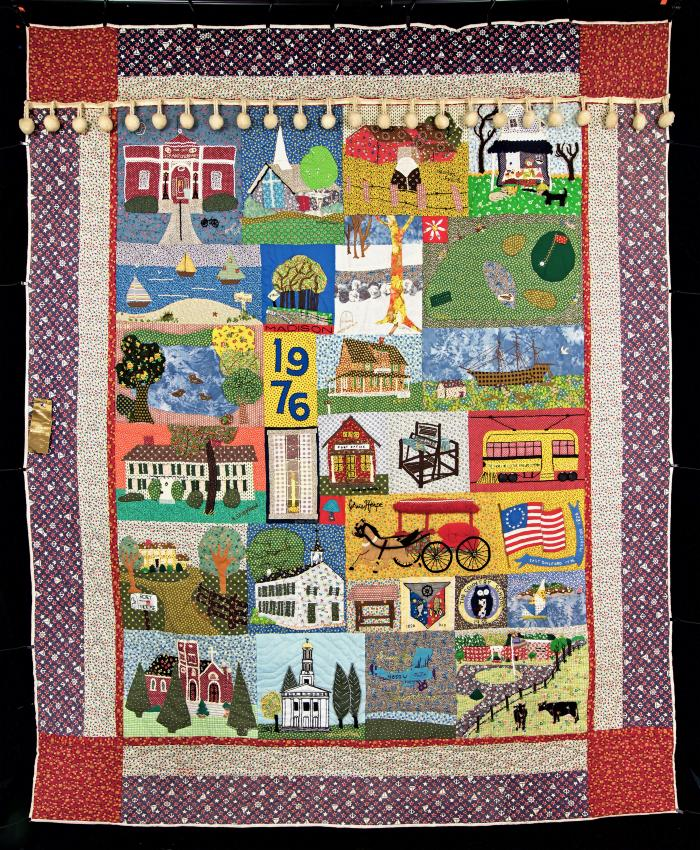 Quilt - Bicentennial quilt for town of Madison