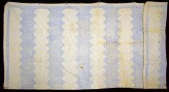 Bed Quilt - blue & white