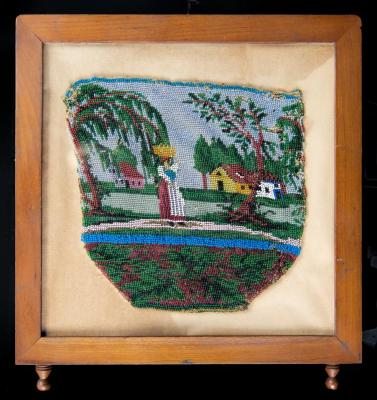 Beaded Hand Bag in frame