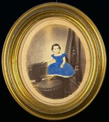 Portrait of Young girl in blue